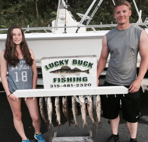 Fingerlakes wineries dont forget lucky buck fishing for Finger lakes fishing report