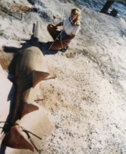 bucks wife kim with 18 ft saw fish  fla keys